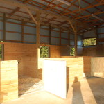 Inside Barn - Open and airy stalls